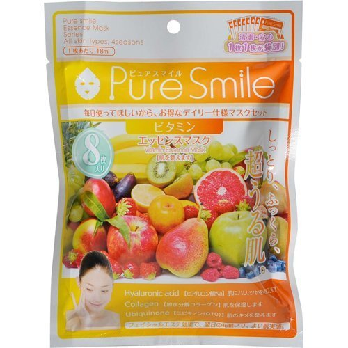 Pure Smile Essence Face Mask Vitamin 8 Sheets