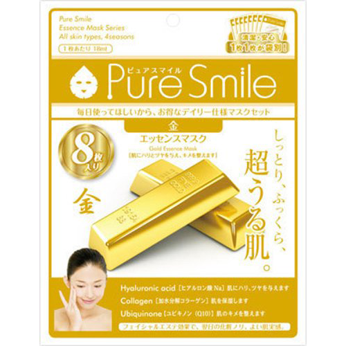 Pure Smile Essence Face Mask Gold 8 Sheets