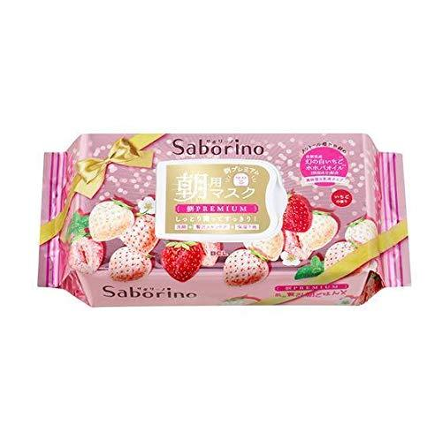 Saborino Morning Premium White Strawberry Face Mask  28 Sheets