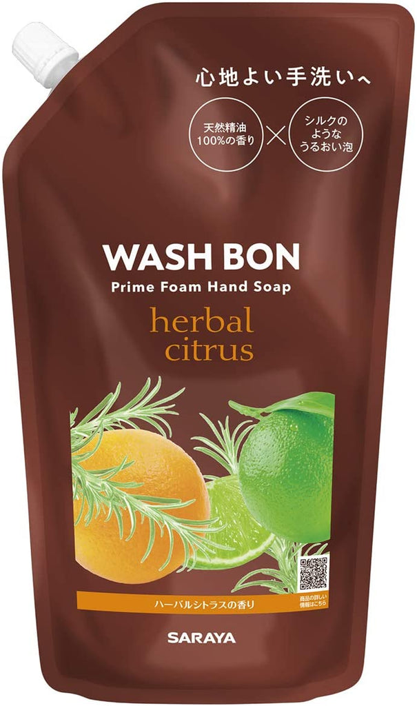 Saraya Washbone Prime Foam Herbal Citrus Refill (500 ml)