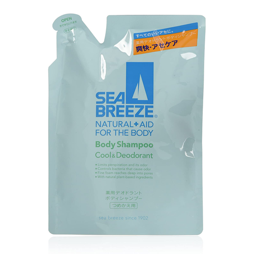 SEA BREEZE Cool & Deodorant Body Shampoo Refill Type 400ml