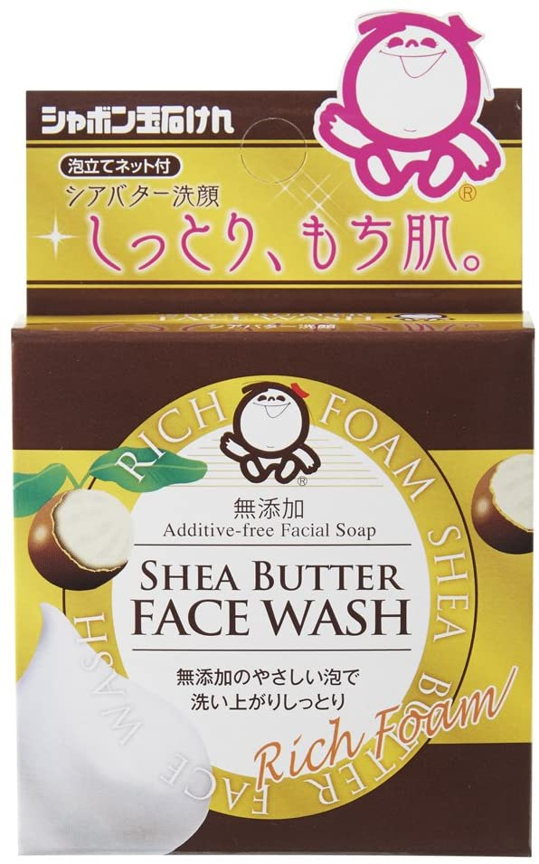 Shabondama Shea Butter Face Wash 60 g