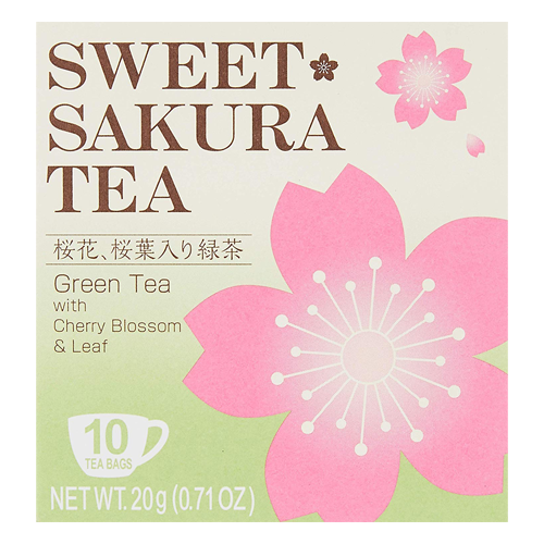 Tea Boutique Sweet Sakura Tea Green Tea with Cherry Blossom & Leaf 10 Bags