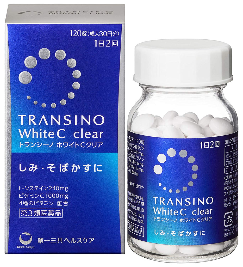 Transino White C Clear 120 Tablets