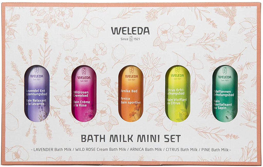 WELEDA Bath Milk Mini Set 5 Scents (20 ml) Each