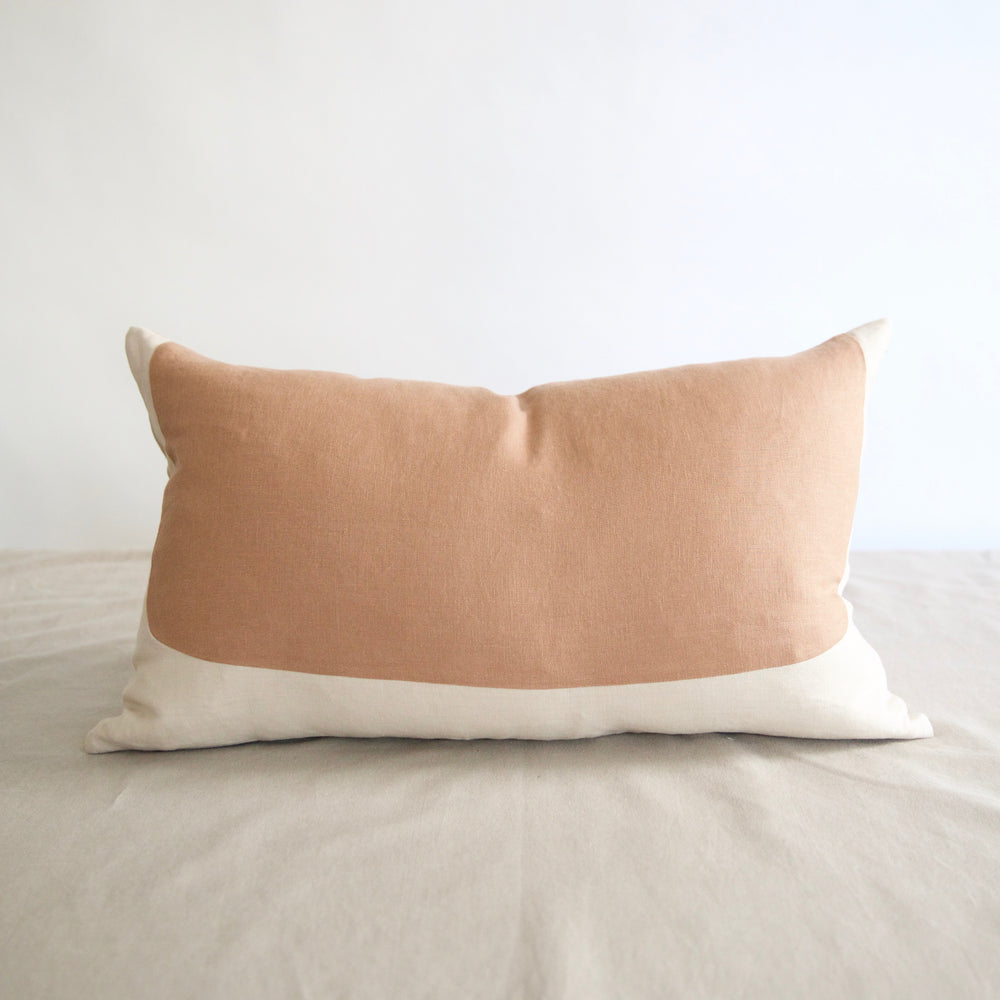 Oval Lumbar Linen Pillow