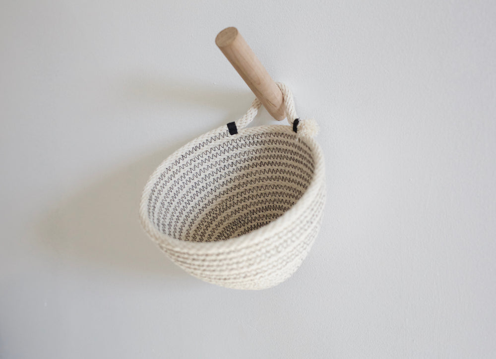 Mini Wall Rope Hanging Basket