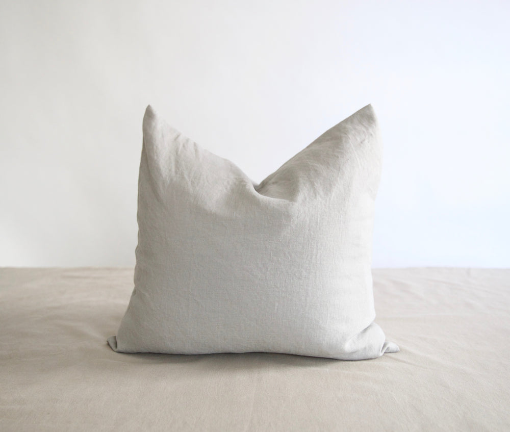 Square Washed Linen Pillow