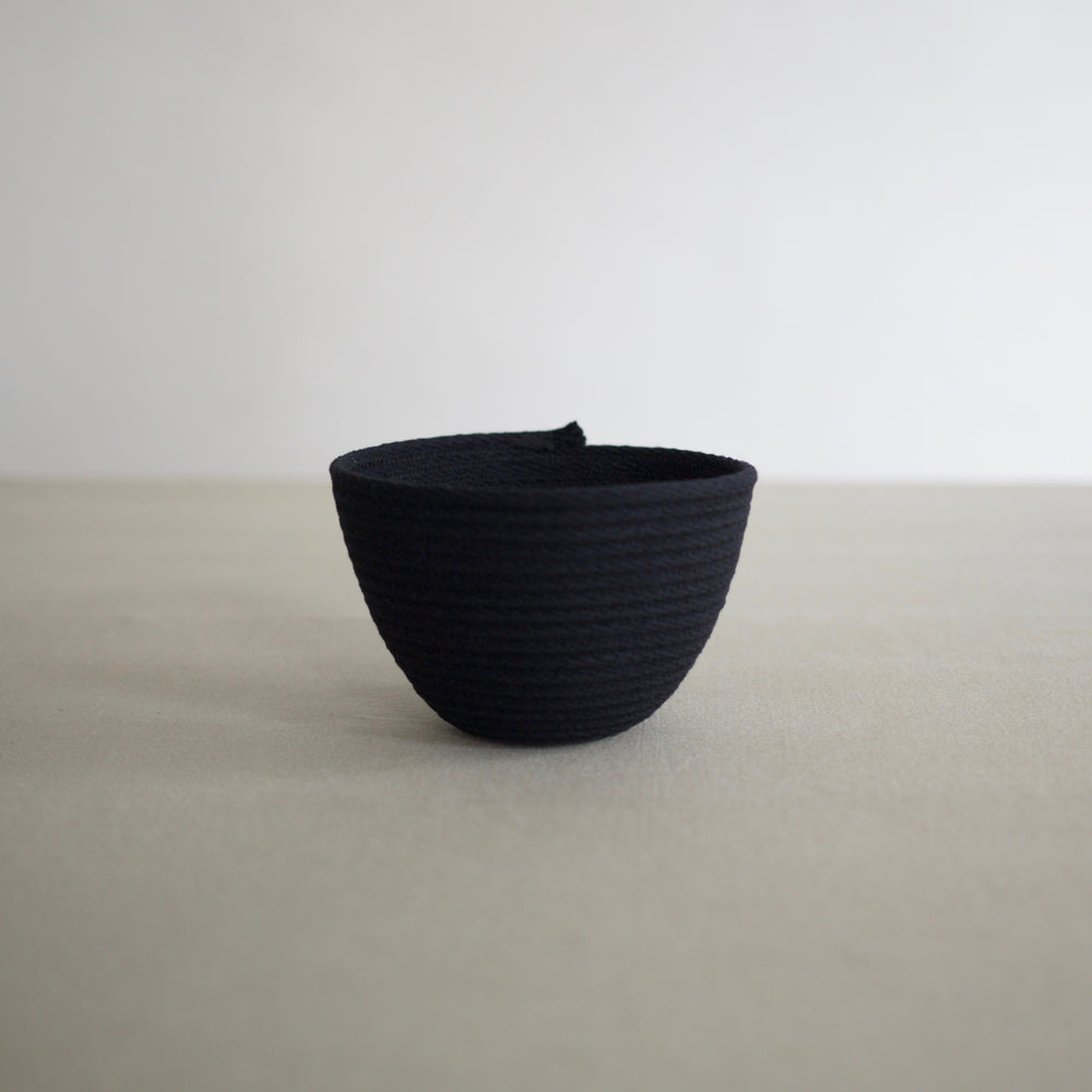 Small Black Rope Basket