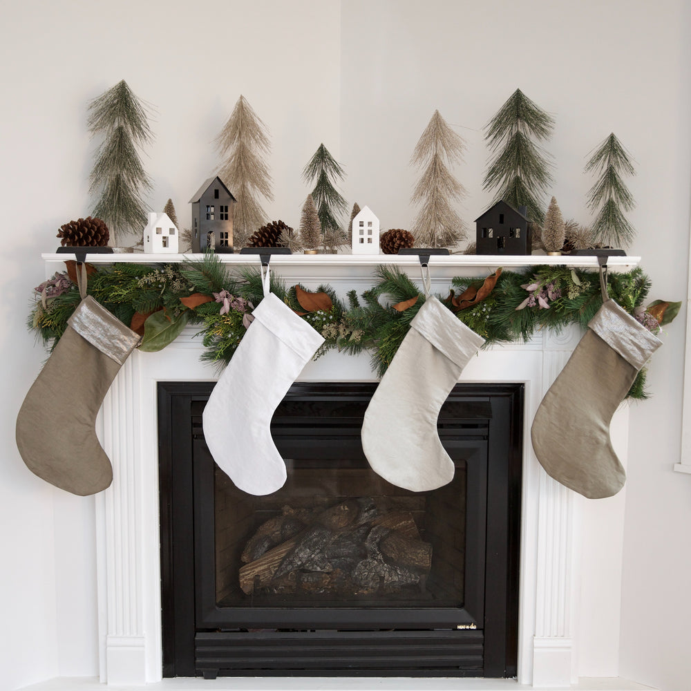 Mineral Linen Christmas Stockings