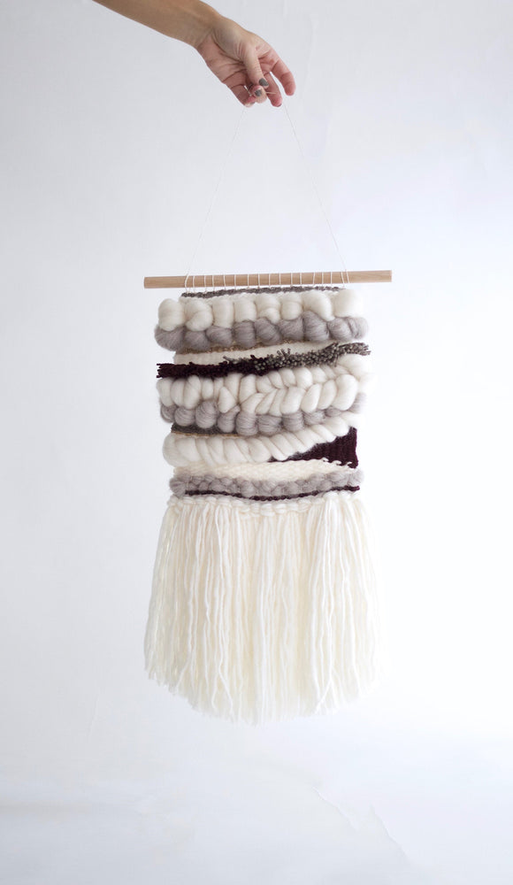 White Winter Woven Wall Hanging