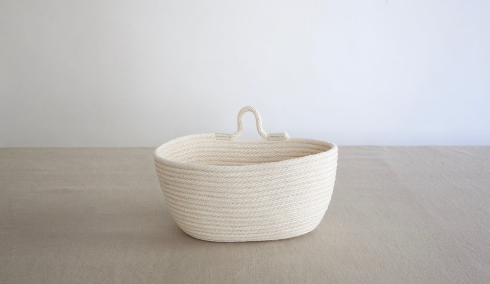 Small Oval Hanging Wall Basket