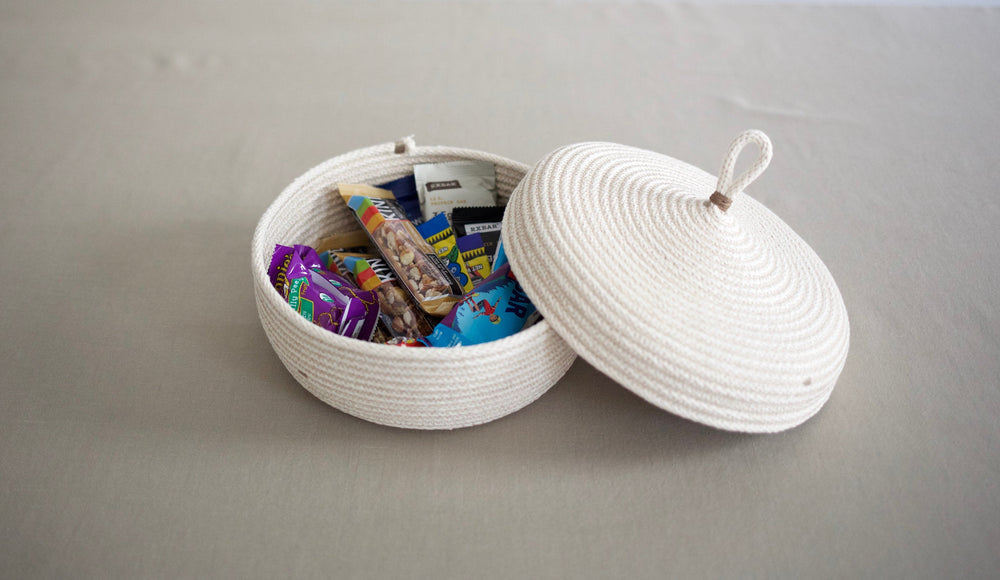 Wide Table Basket with Lid