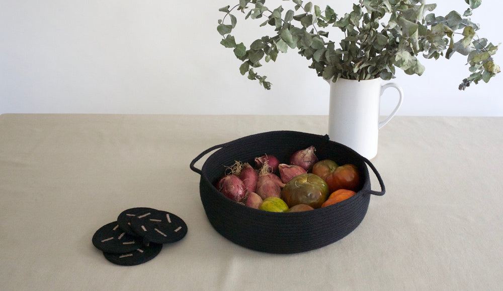 Table Basket with Handles