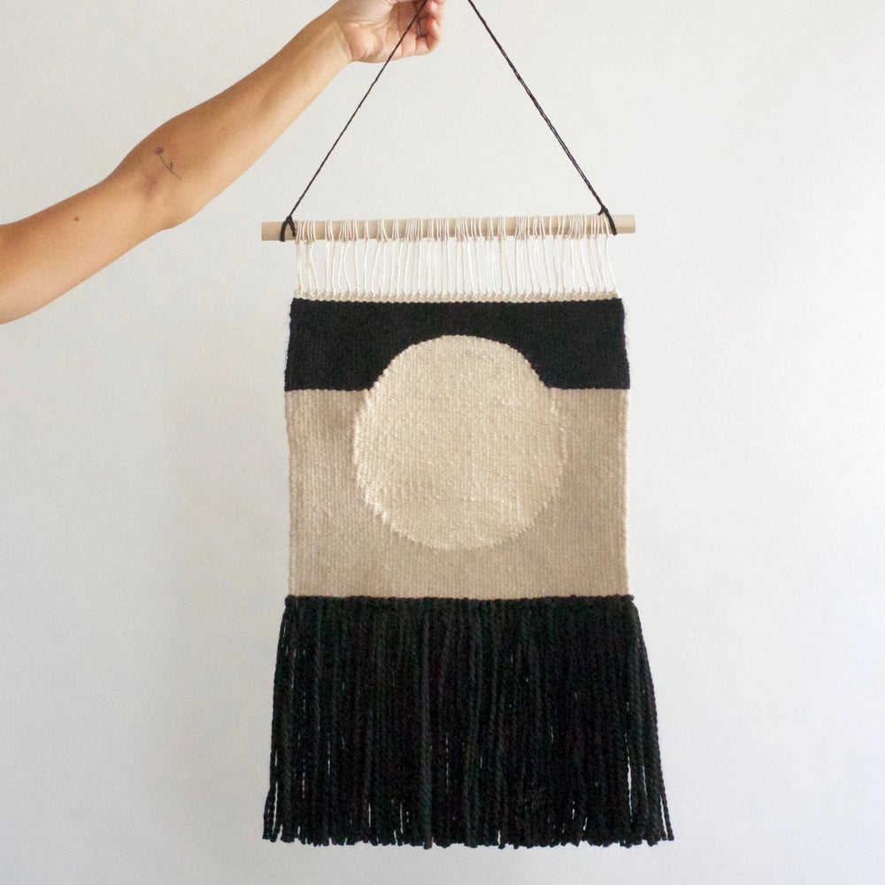 Modern Black Circle Wall Hanging