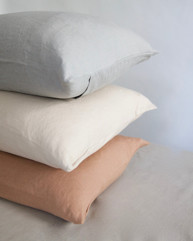 Lumbar Washed Linen Pillow