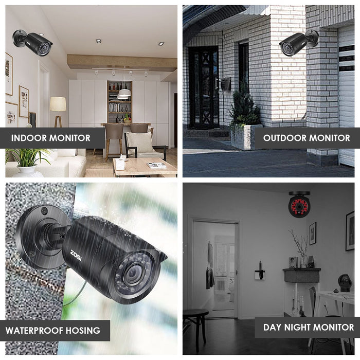 4PCS 720p/1080p Outdoor Weatherproof Security Camera
