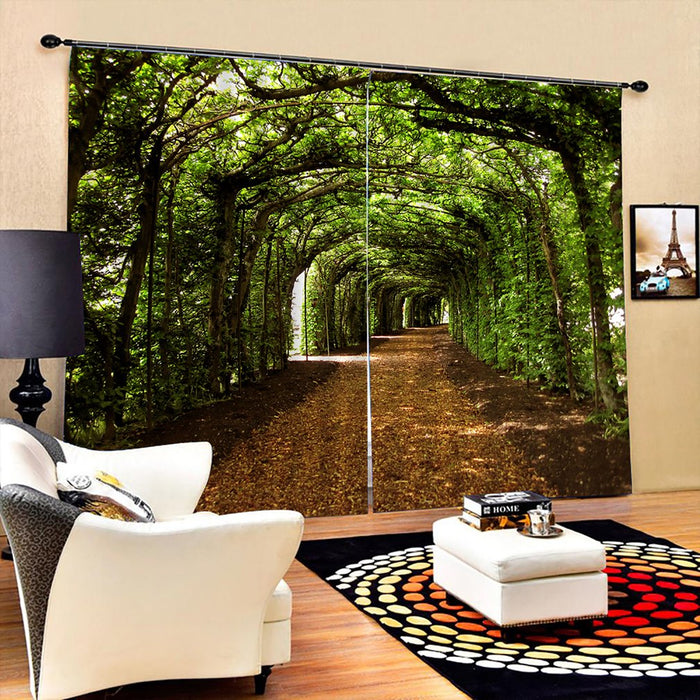 Forest Printed Curtains