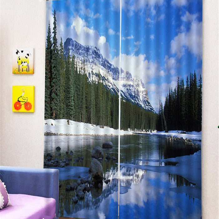 Printed View Curtains