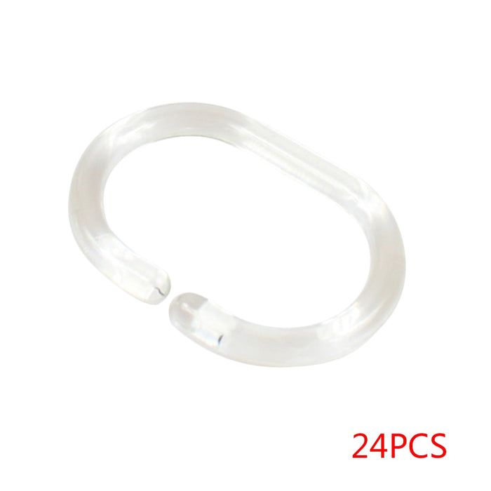 Transparent C Shape Shower Rings