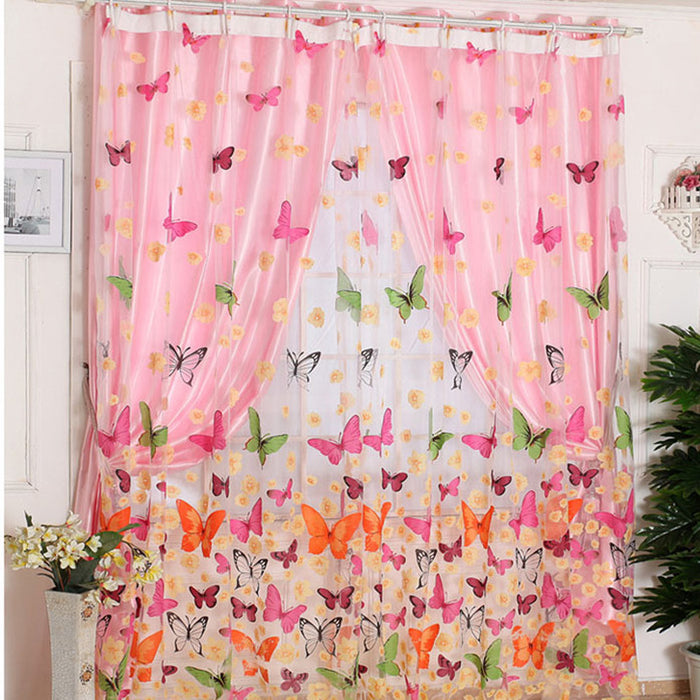 Butterfly Print Curtains