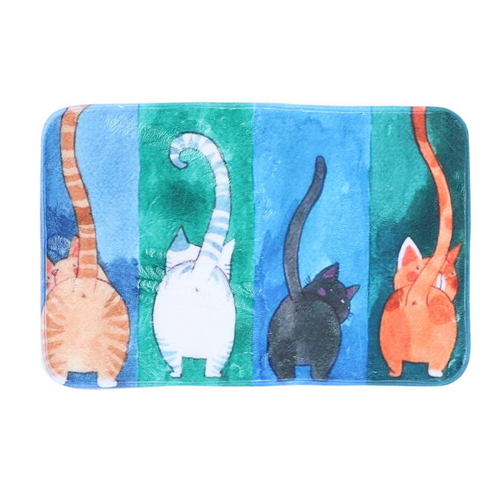 Cat Print Floor Mat