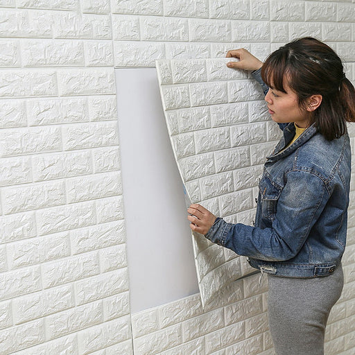 3D Foam Brick Wallpaper