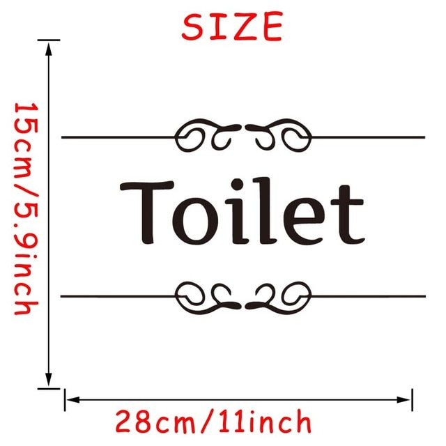 Toilet Sign Wall Stickers