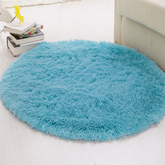 Fluffy Round Carpets