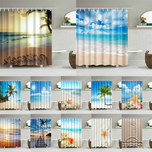 Sea Beach Shower Curtain