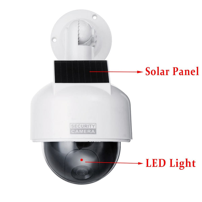 Solar Power Outdoor Simulation CCTV Camera
