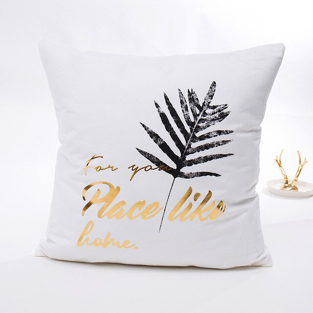 Gold Bronzing Pillow Cases