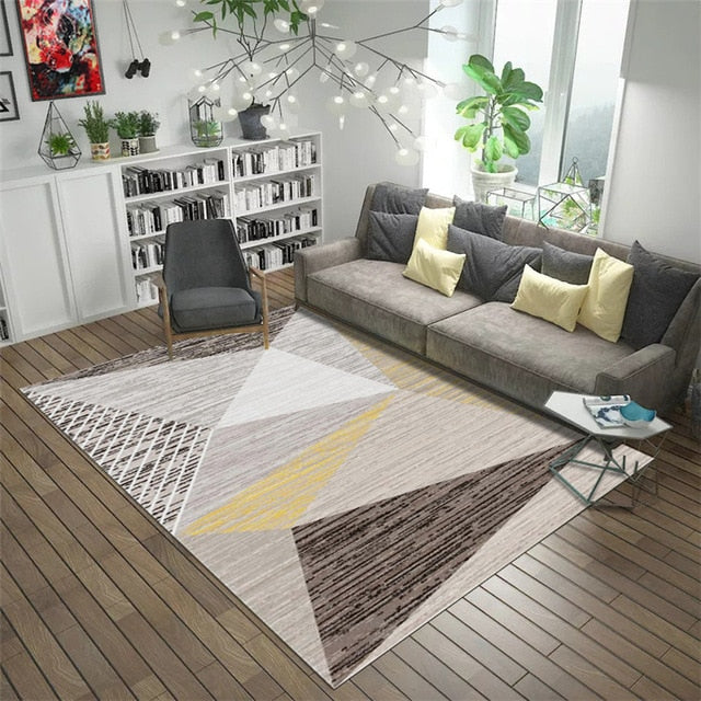 Gold Geometric Carpet
