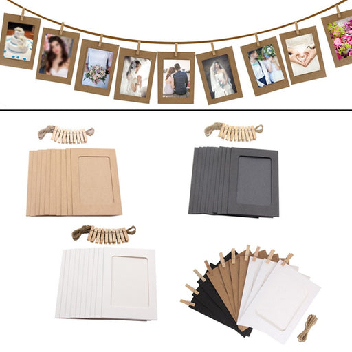 Wooden Clip Paper Picture Holder