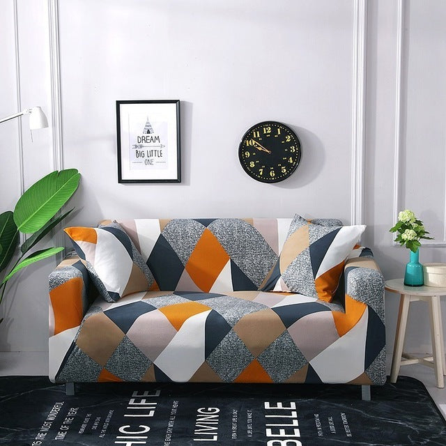 Colorful Elastic Sofa Cover