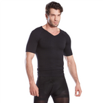 Gynecomastia Compression Shirt For Man Boobs - Black - Gynecomastia Solutions