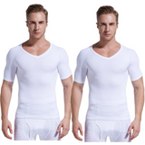 Gynecomastia Compression Shirt - White - 2 Pack - Gynecomastia Solutions