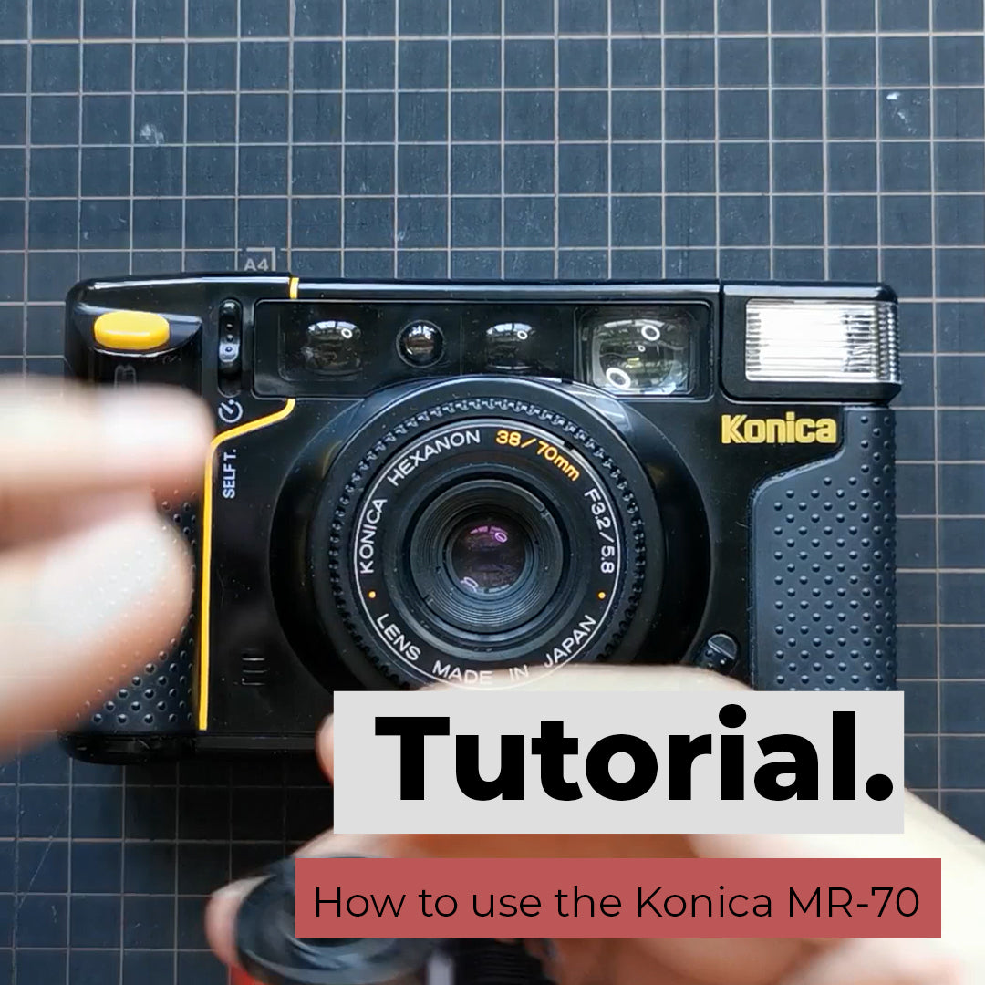 How to use Konica MR70