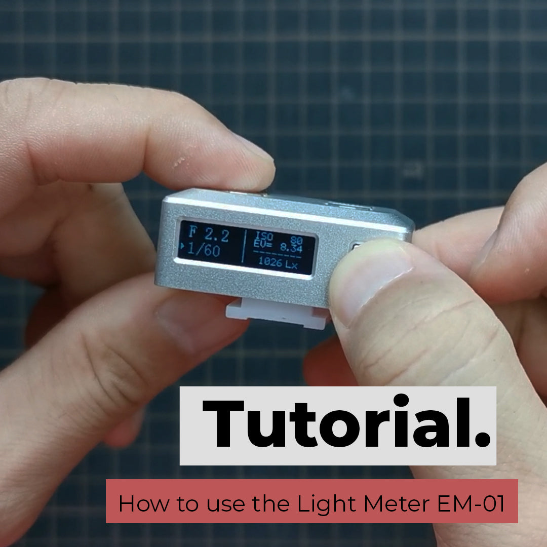 How to use the hotshoe light meter EM-01
