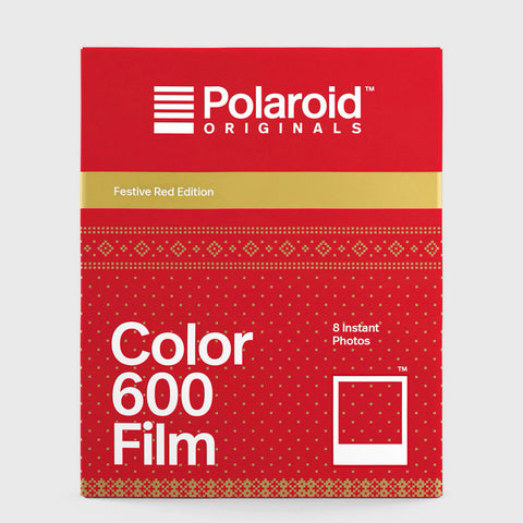 Color Film for Polaroid 600 | Festive Red Edition