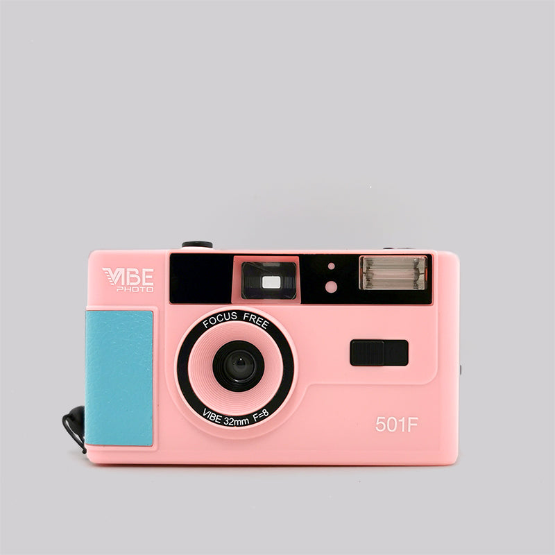 Vibe Photo 35mm Camera (Pink) Singapore - 8storeytree