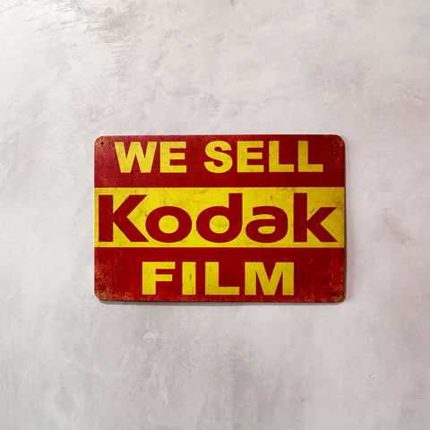 Tin Sign - We sell Kodak Film