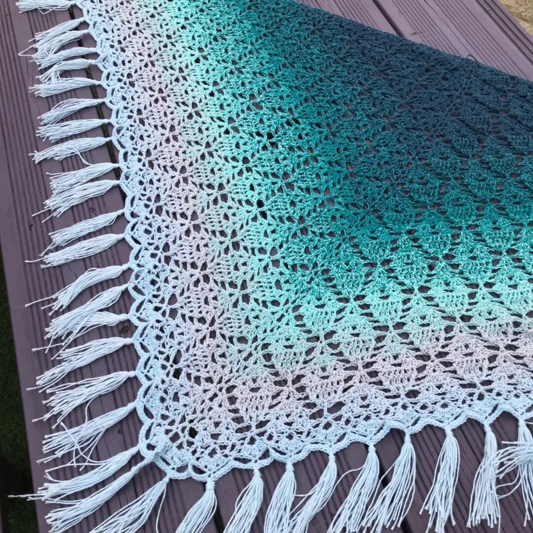 Peppermint Tea Shawl Make Along