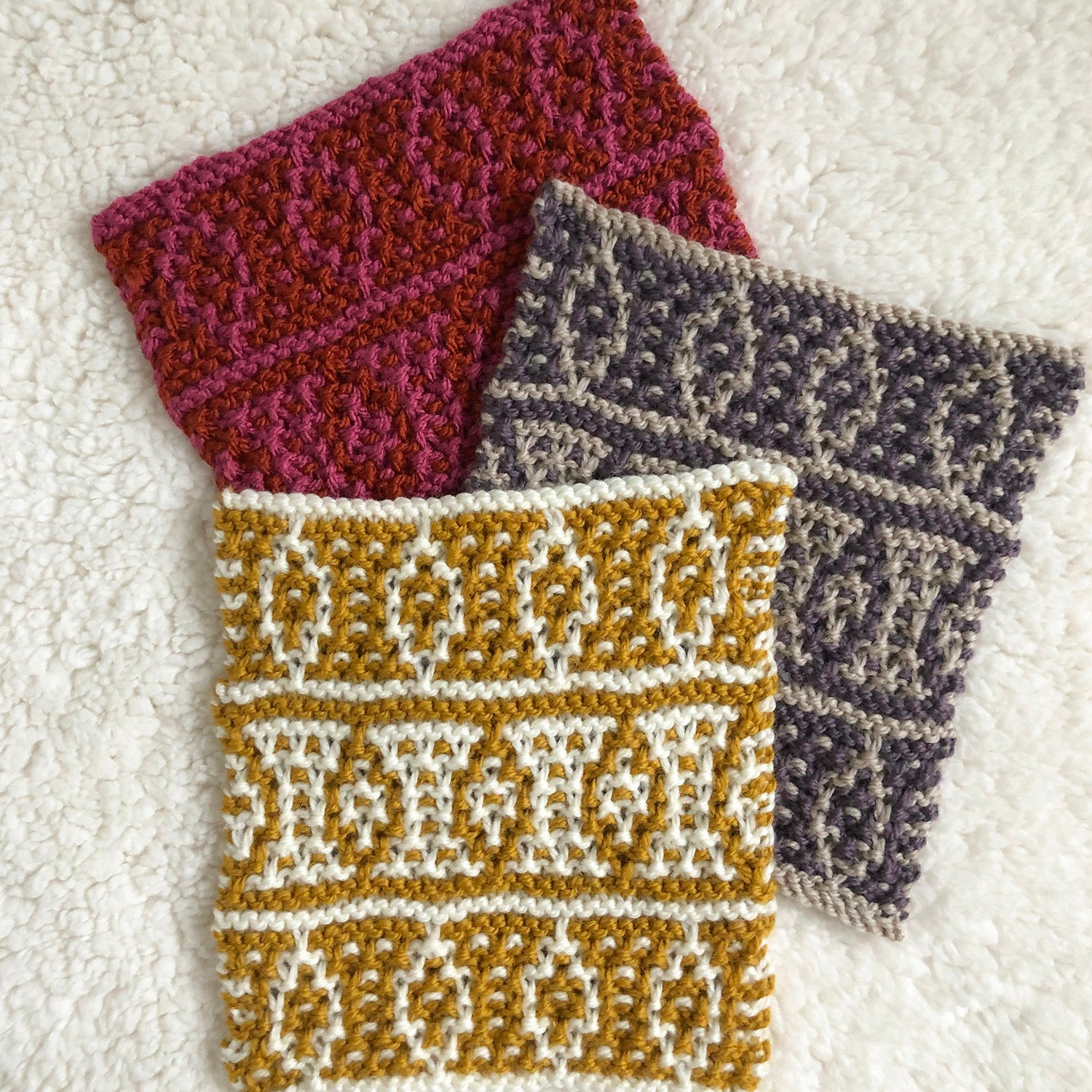 Week 5 Lady lane - A Day Out Knit Along Blanket by Sarah Hatton - Mosaic knitting