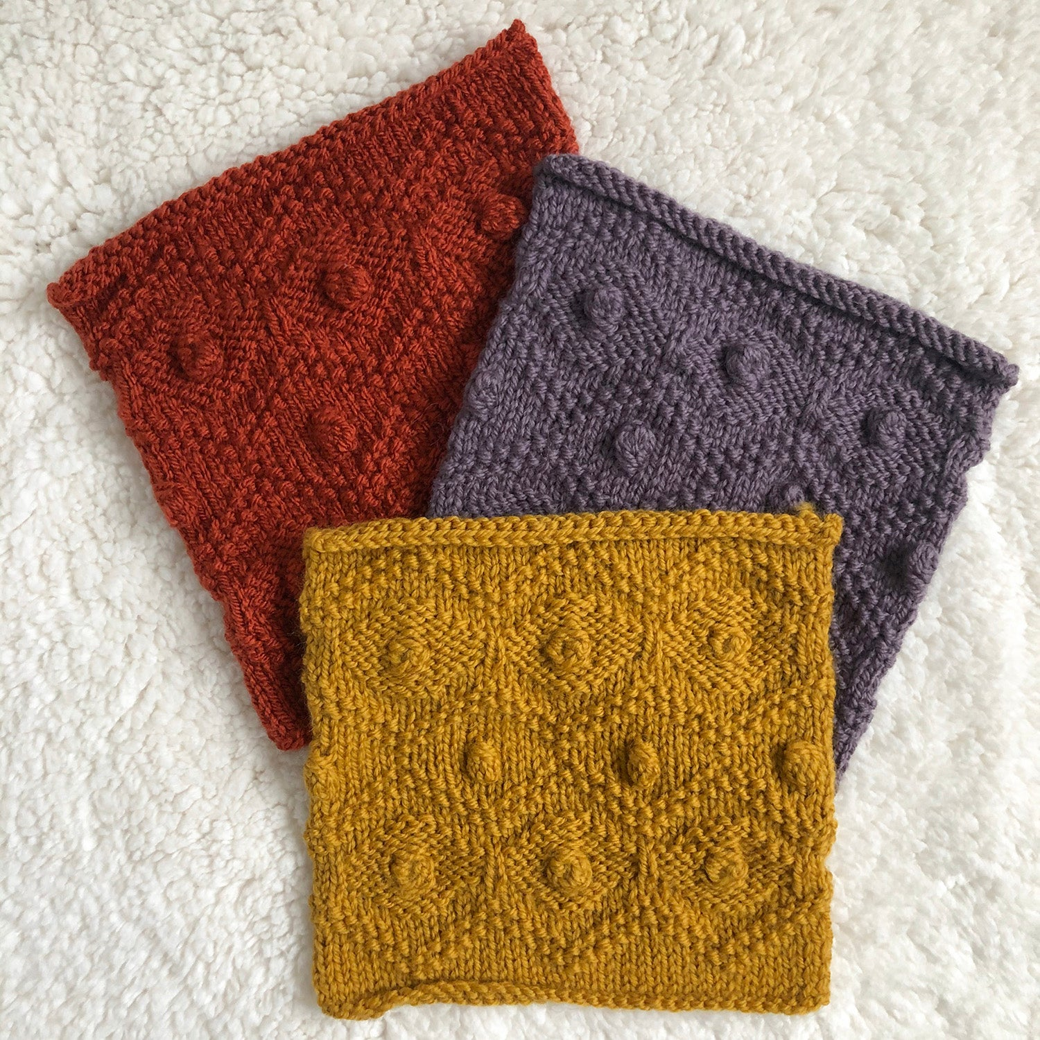 Week 6 Mustard Lane - A Day Out Knit Along Blanket by Sarah Hatton - No turn bobble