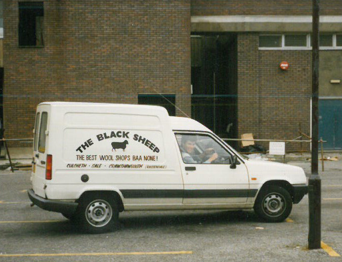 Black Sheep Wools Delivery Van