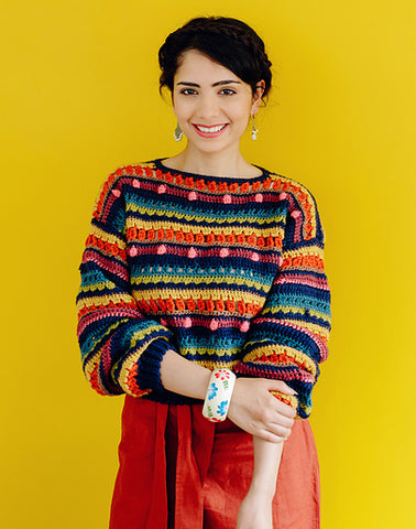 Eclectic jumper by A Missing Yarn