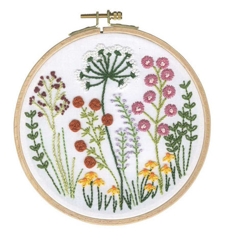 DMC Embroidery floral kit
