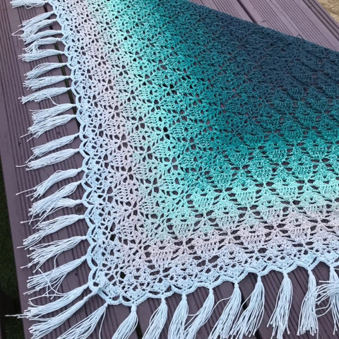 Peppermint Tea Shawl from Black Sheep Wools