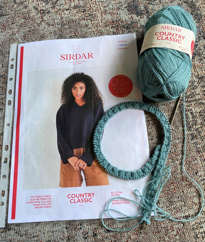 V Neck Sweater in Sirdar Country Classic 4ply
